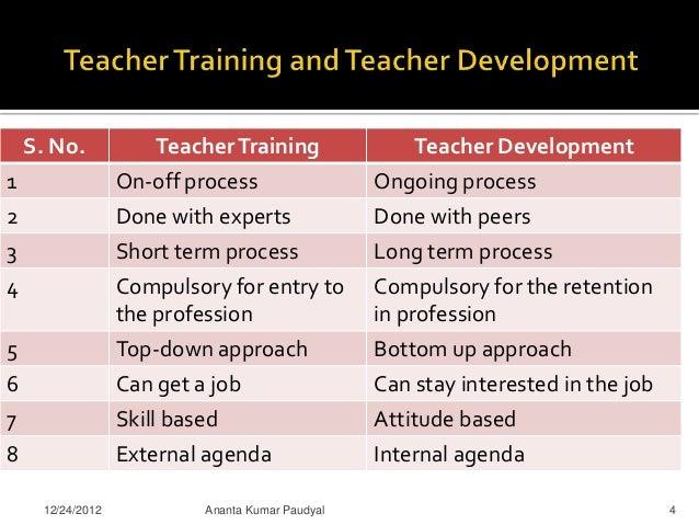 how is teacher professional development program running in