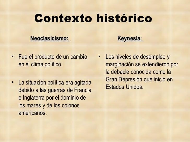 Contexto histórico   <ul><li>Neoclasicismo:   </li></ul><ul><li>Fue el producto de un cambio en el clima político.  </li><...