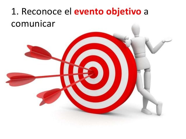 1. Reconoce el evento objetivo a comunicar