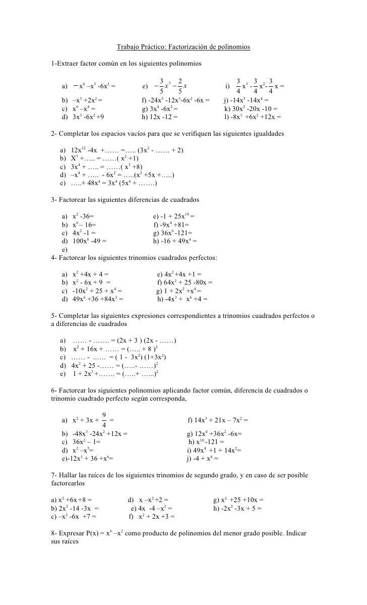 Famoso Trinomios Factoring Hoja De Trabajo Bosquejo - hojas de ...
