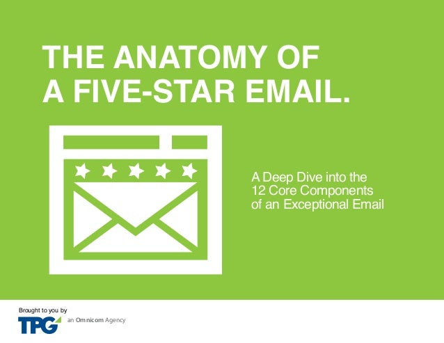 THE ANATOMY OF A FIVE-STAR EMAIL. A Deep Dive into the 12 Core Components of an Exceptional Email  Brought to you by  an O...