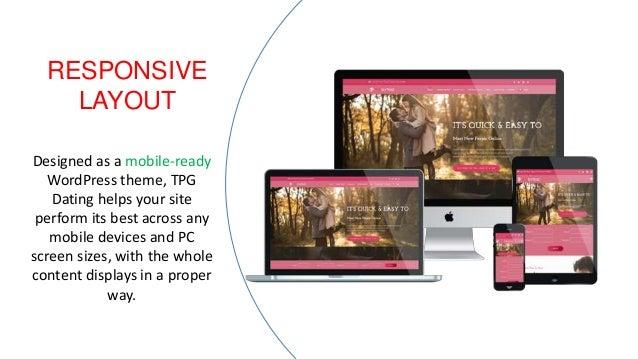 WordPress dating tema responsive