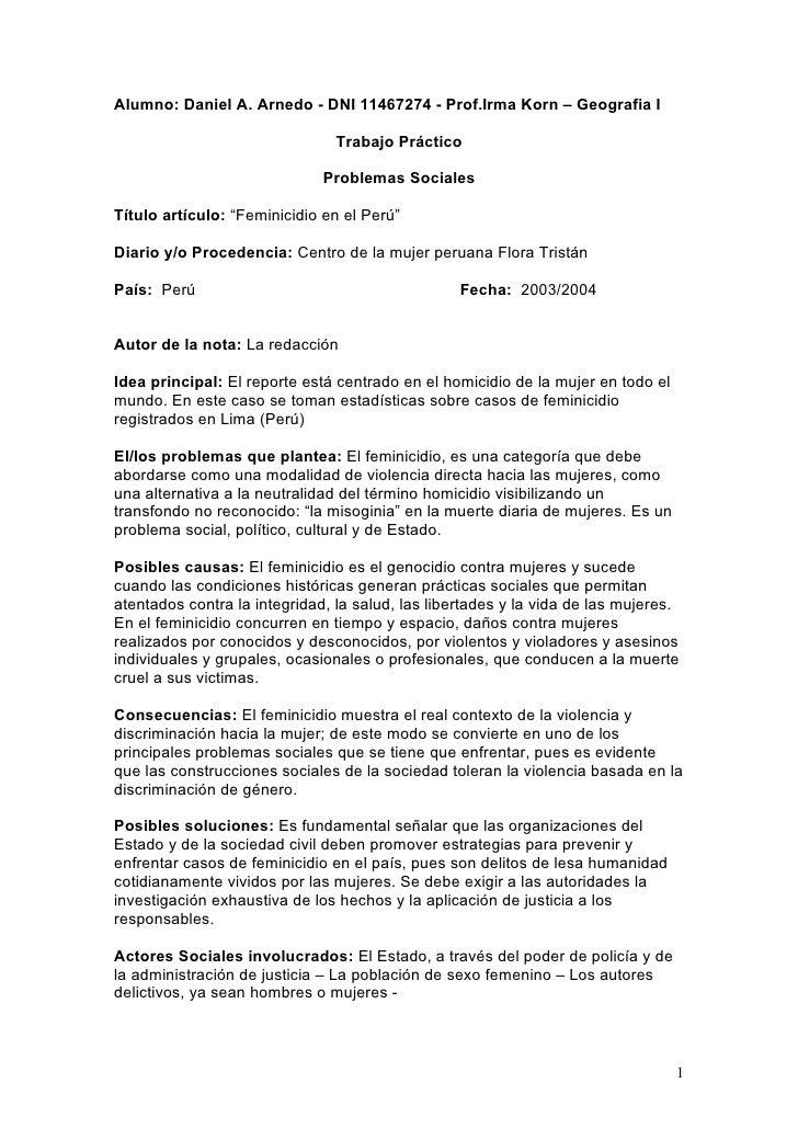 Alumno: Daniel A. Arnedo - DNI 11467274 - Prof.Irma Korn – Geografia I                                  Trabajo Práctico  ...