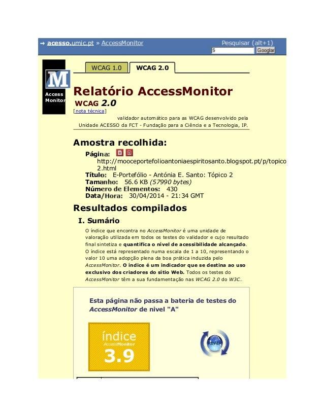 acesso.umic.pt » AccessMonitor Pesquisar (alt+1) § Googlar Página: Título: Tamanho: Número de Elementos: Data/Hora: índice...