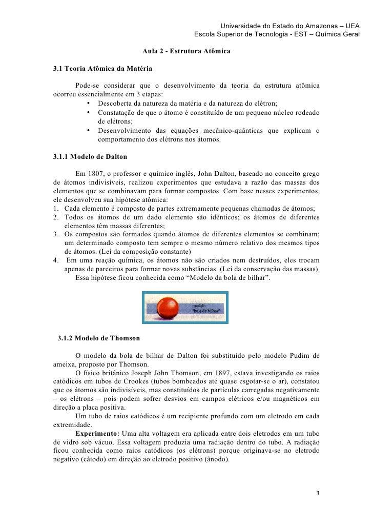 Tópico 3 Estrutura Atomica Parte 1