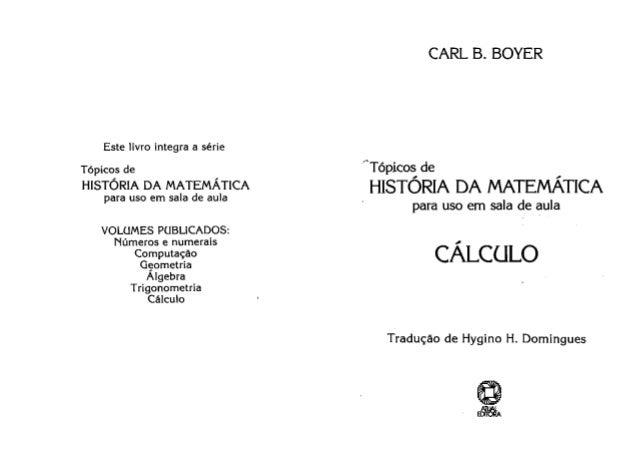 Tópicos de história da matemática cálculo