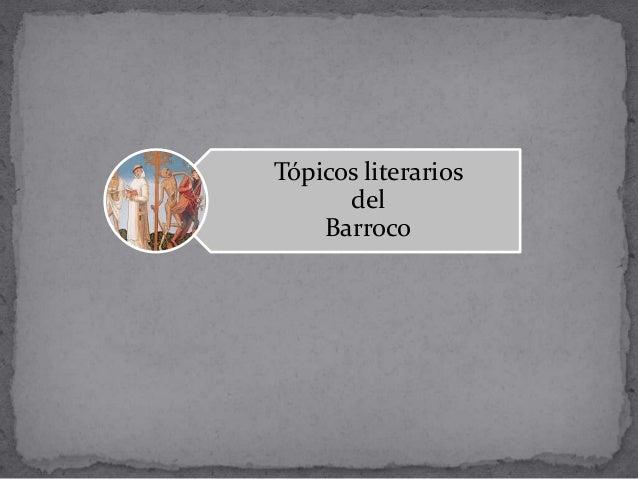 Tópicos literarios del Barroco