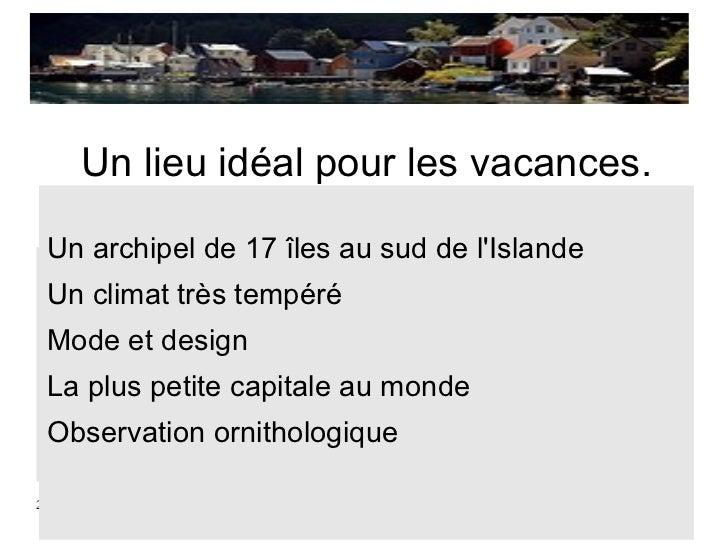 Tp îles féroé Slide 2