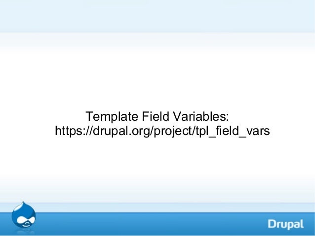 drupal variables in templates