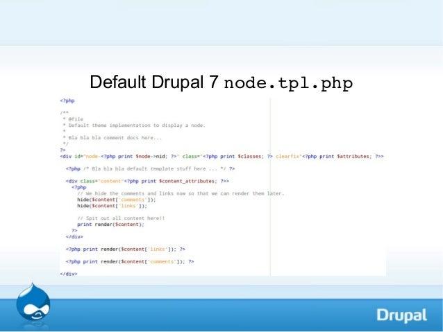 Drupal 7 Template For Node