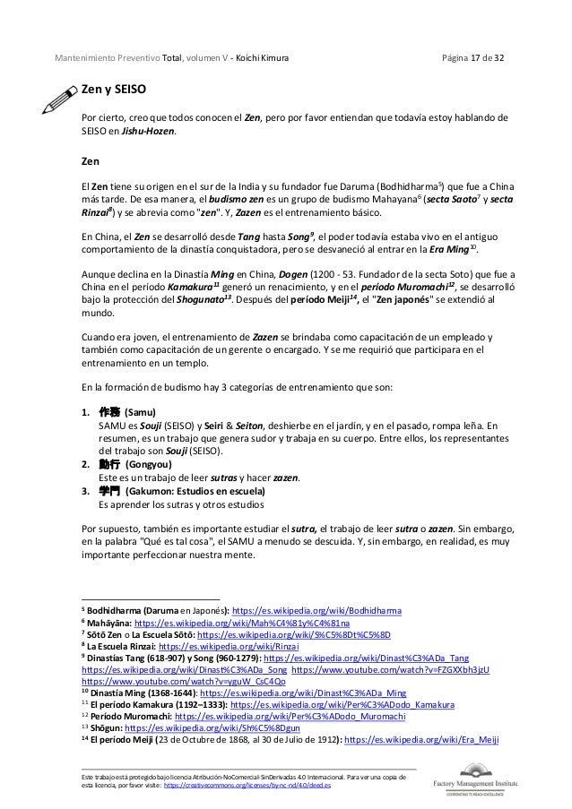 Mantenimiento Preventivo Total, volumen V - Koichi Kimura Página 17 de 32 Este trabajo está protegido bajo licencia Atribu...