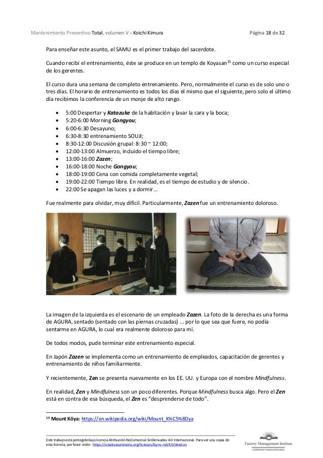 Mantenimiento Preventivo Total, volumen V - Koichi Kimura Página 18 de 32 Este trabajo está protegido bajo licencia Atribu...