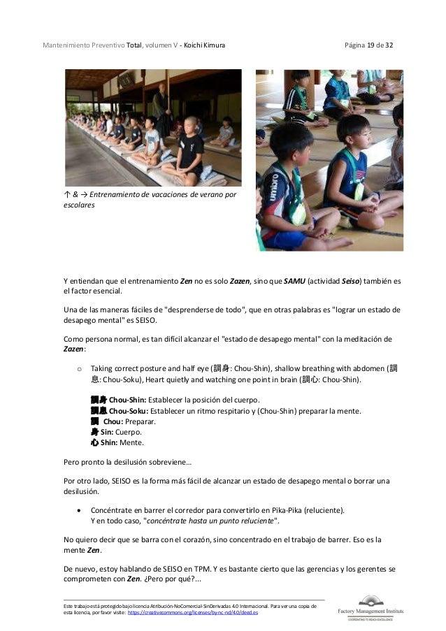 Mantenimiento Preventivo Total, volumen V - Koichi Kimura Página 19 de 32 Este trabajo está protegido bajo licencia Atribu...