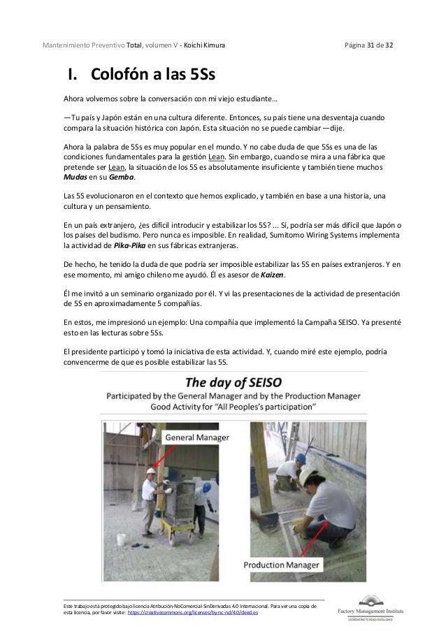Mantenimiento Preventivo Total, volumen V - Koichi Kimura Página 31 de 32 Este trabajo está protegido bajo licencia Atribu...