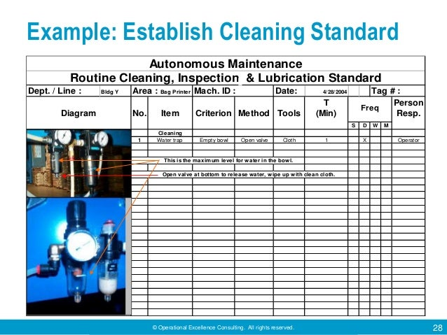 autonomous maintenance by operational excellence consulting