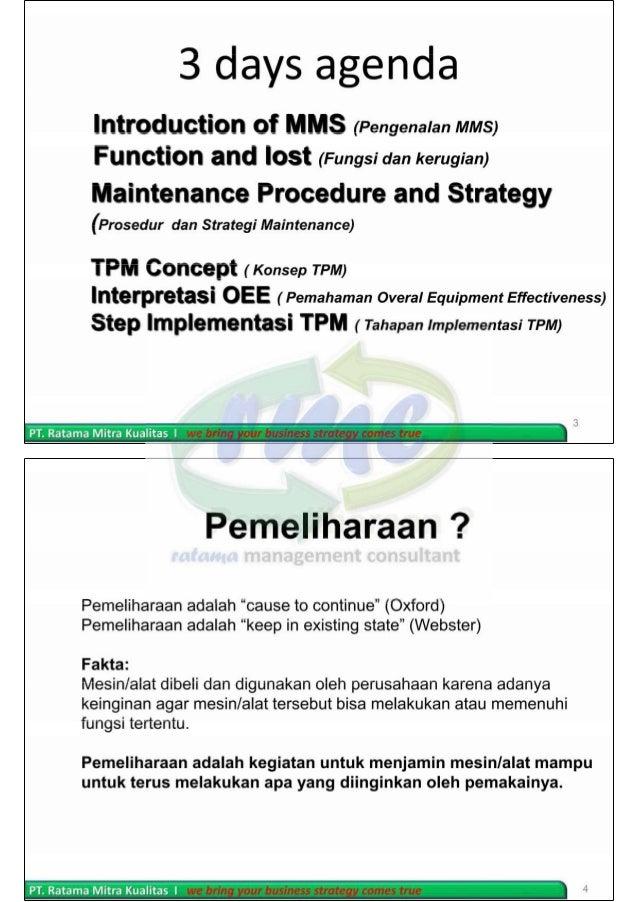 Total Productive Maintenance (TPM) Slide 2