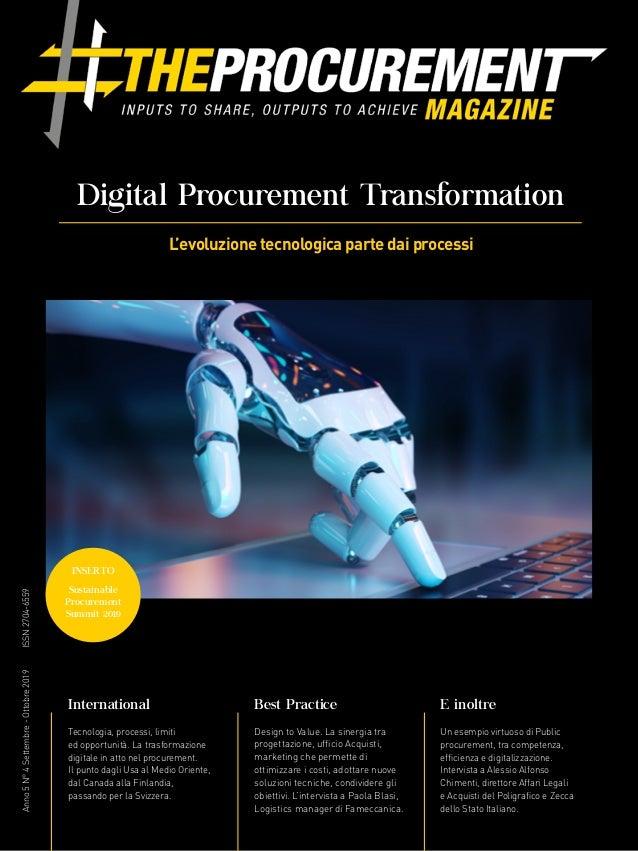 Anno5N°4Settembre-Ottobre2019ISSN2704-6559 E inoltre Un esempio virtuoso di Public procurement, tra competenza, efficienza...