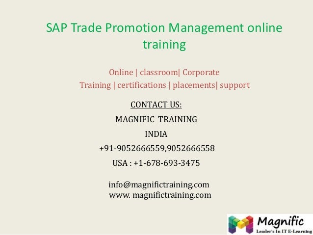 Tpm sap online training & certification