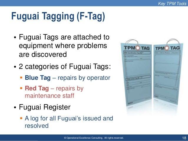 TPM Autonomous Maintenance Operator Defect Tag Blue