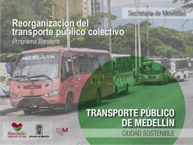 Reorganización del  transporte público colectivo  Programa Bandera