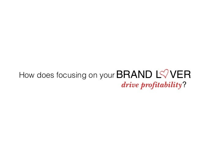 How does focusing on your BRAND L VER                            drive profitability?