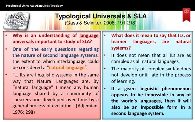 linguistic typology This article starts by defining the object of linguistic typology as cross-linguistic variation and language diversity it contrasts linguistic typology with another influential approach to.