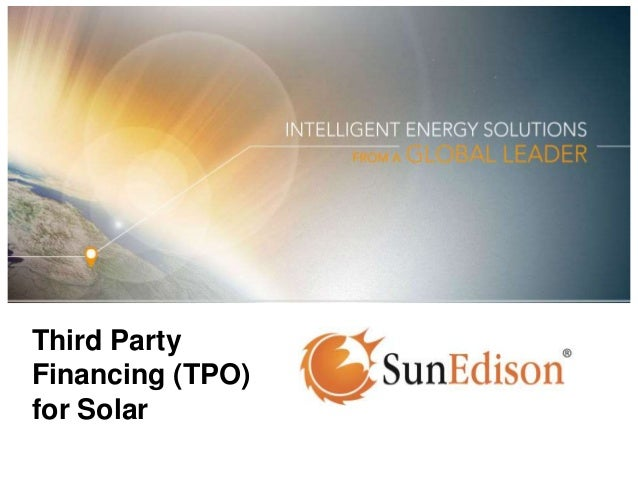 Third Party Financing (TPO) for Solar