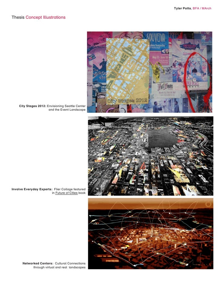 Tyler Potts, BFA / MArch  Thesis Concept Illustrations         City Stages 2012: Envisioning Seattle Center               ...