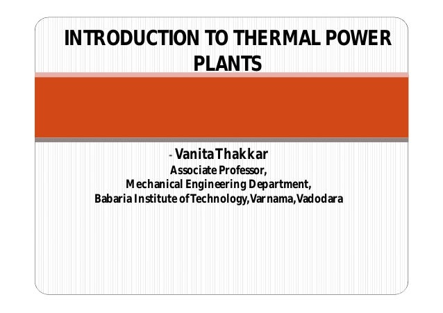 - VanitaThakkar Associate Professor, Mechanical Engineering Department, Babaria Institute ofTechnology,Varnama,Vadodara IN...