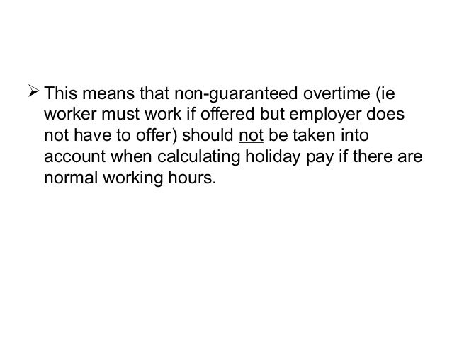 Overtime should be included in holiday pay, rules EAT   Personnel ...