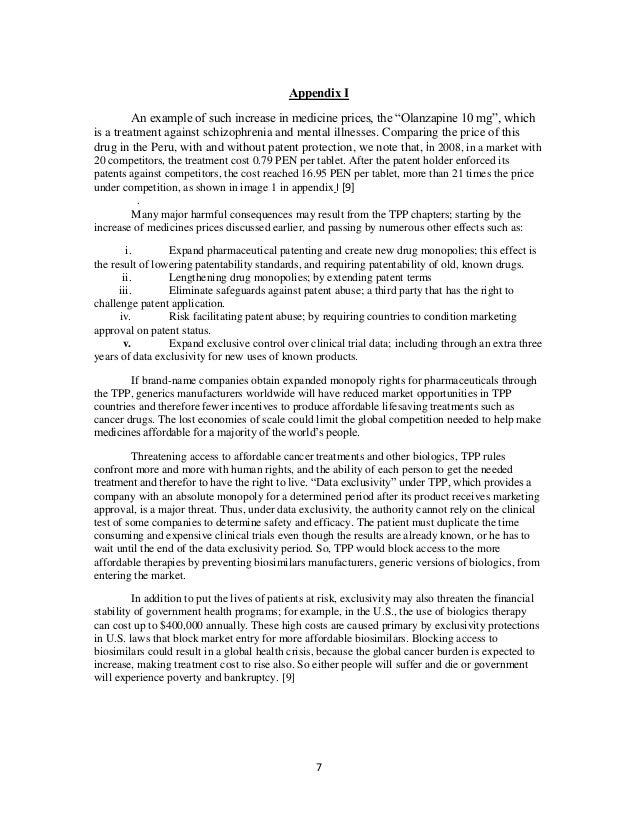 Alteration of Patent Protection Length in the Intellectual Property P…