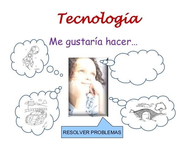 Tecnología Me gustaría hacer… RESOLVER PROBLEMAS