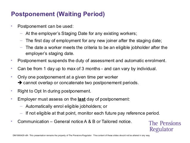 auto enrolment slides from the pensions regulator