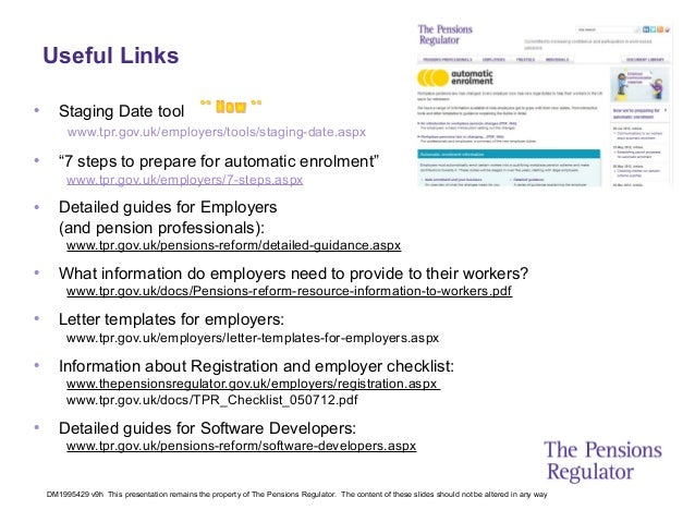 Auto enrolment slides from the pensions regulator 33 spiritdancerdesigns Choice Image