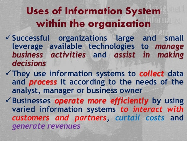 information system 2 uses of information system within the