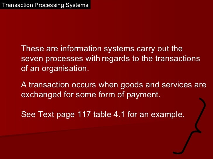 Transaction processing systems  Slide 2
