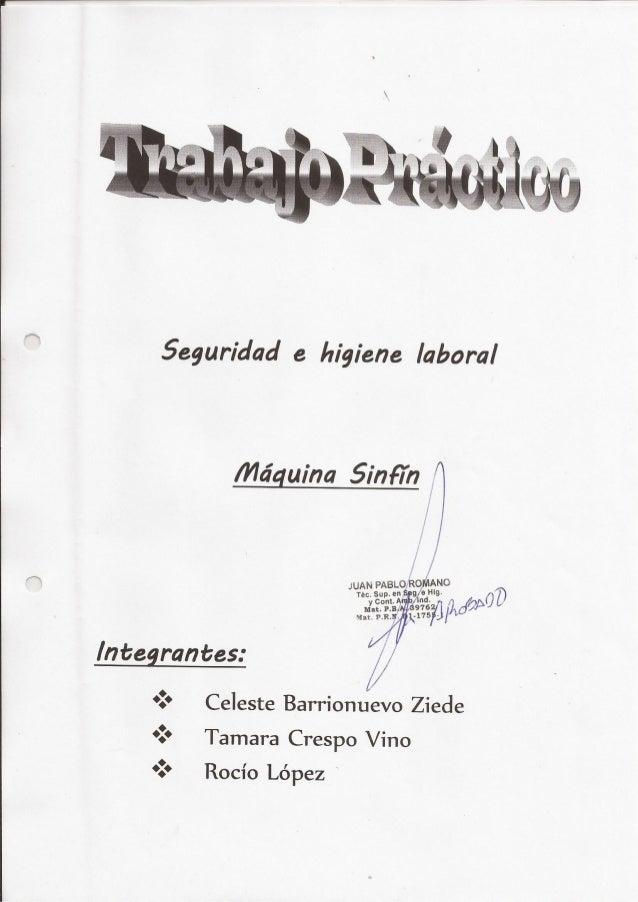 "5eguridad e higiene Iaboral  / Vldguina 5inFfn 1  I:  J  i no "": ANo JUAN PABLO 6 W  ~ /  i7  - ? J,W¢; ,s? l        lm': ..."