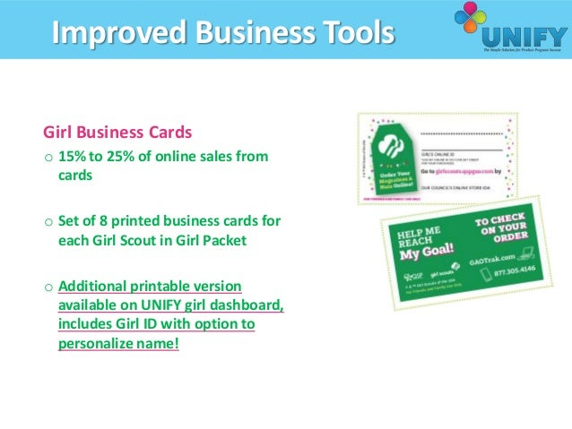 Troop producat sale manager training 56 improved business tools girl business cards colourmoves
