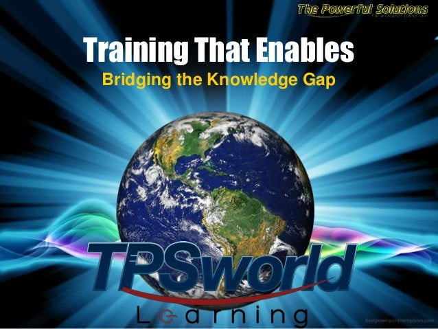 Training That Enables Bridging the Knowledge Gap