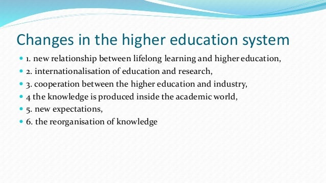 thesis on knowledge management in higher education The status and quality of secondary science teaching and  of secondary science teaching and learning  thesis does not, to the best of my knowledge.