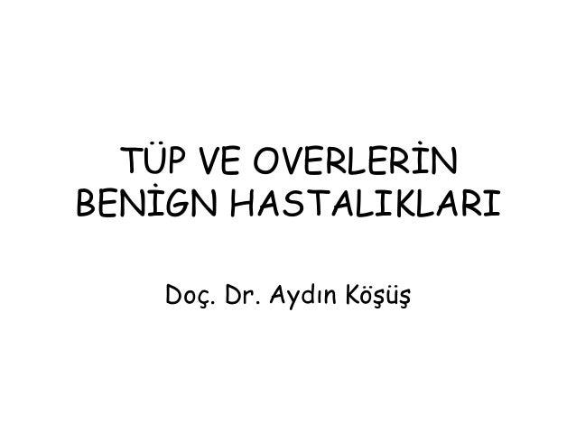 TÜP VE OVERLERİN BENİGN HASTALIKLARI Doç. Dr. Aydın Köşüş