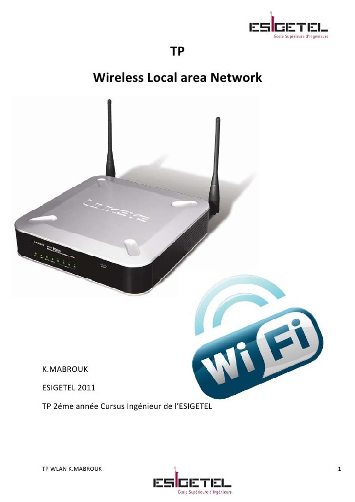 Tp Wireless Local Area Network Kais Mabrouk 2011