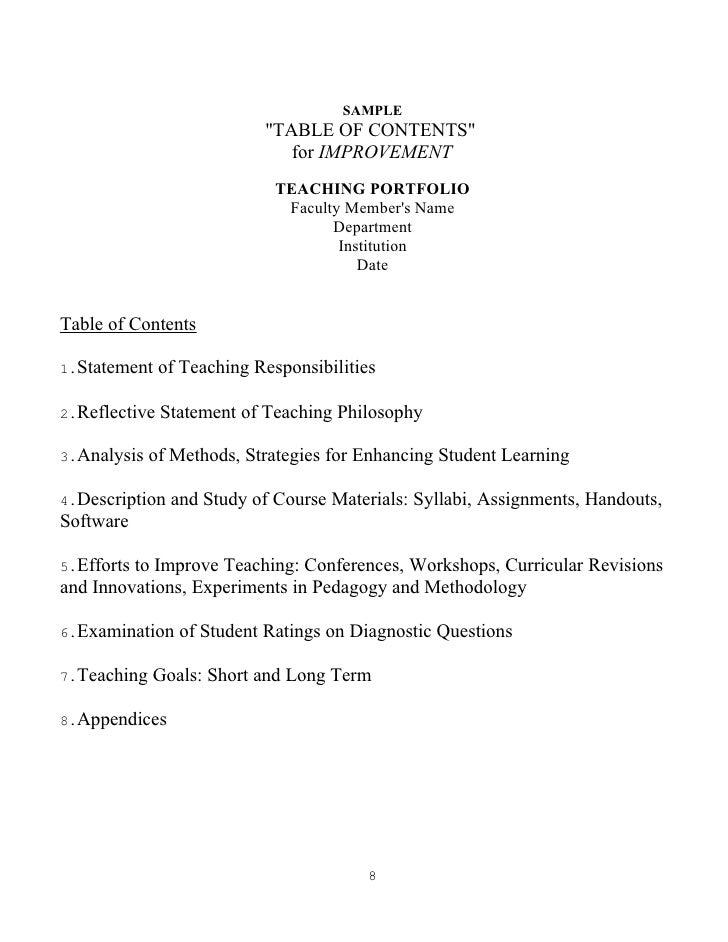 teaching portfolio reflective essay example image 4 - Portfolio Essay Example