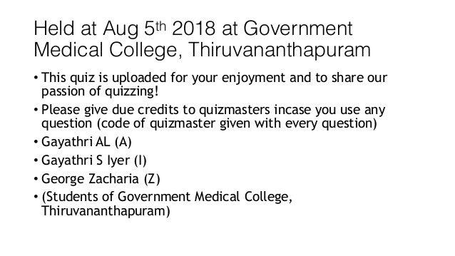 TMC Quiz Challenge 2018 - Prelims Slide 2