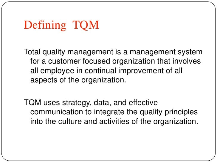 total quality management as an aspect of a reinvented corporate culture Shifting focus of corporate culture and organizational model of management-total quality managment-handouts, lecture notes for total quality management (tqm.