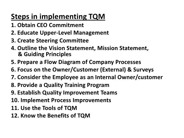 barriers to tqm implementation pdf