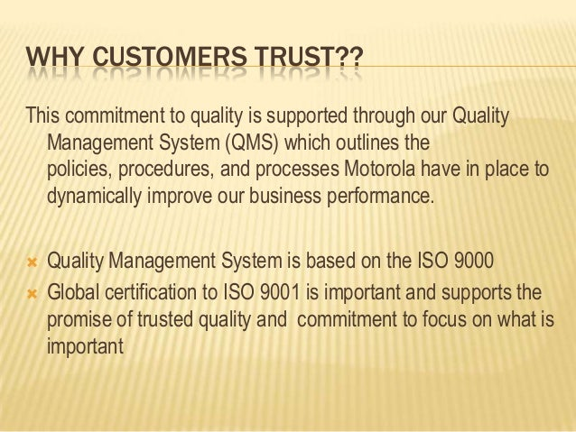 motorola case study total quality management Jobs forum indohr recruitment support motorola case study on tqm - 115730 this topic contains 0 replies motorola case study on tqm integrating total quality: topics by nbsp motorola, saturn, andquality management.