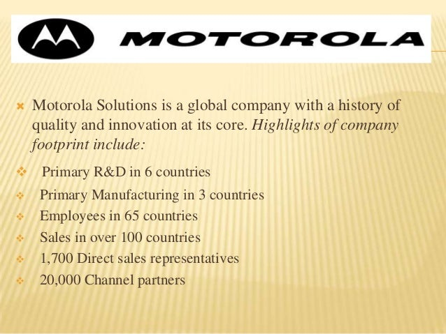 tqm in motorola Total quality management: motorola quality system review or qsr introduction total quality management is considered as a management approach that was first used during the 1950's and has become popular during the early of 1980's.