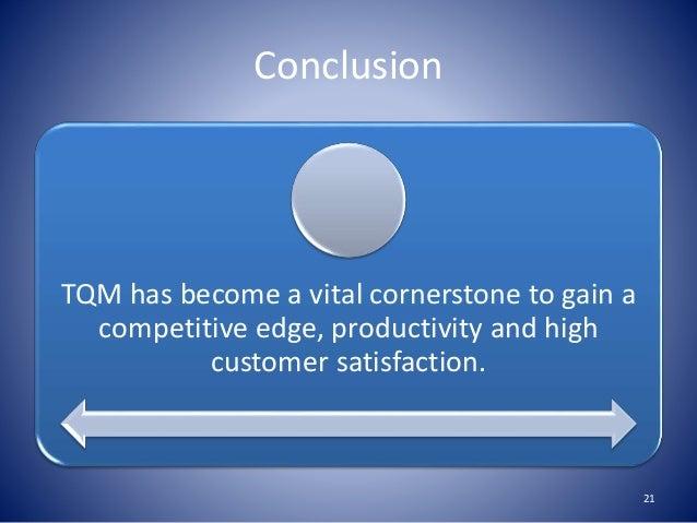 total quality management conclusion tqm