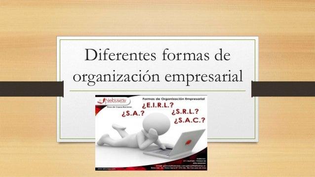 Diferentes formas de organización empresarial